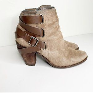 DV Dolce Vita Wrap Around Buckle Suede Ankle Boots